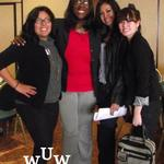 November 11, 2011 Women Uplifting Women Luncheon:  Vanessa Williams, Tish Times, Chrysta Marquez, and Jessica Marquez.