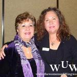 December 9, 2011 Women Uplifting Women Luncheon Mary Jean Marquez and Connie Bustos.  Connie is a big part of The Search for Peace book by Wanda Winters-Gutierrez.