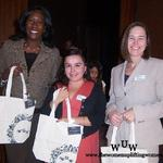 WUW's March Members Tish Times, Emma Elizabeth Rodriguez, and Jeanine Peterson.