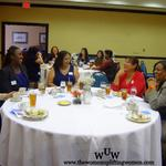 January 13, 2012 Women Uplifting Women Luncheon Ladies having a good time.